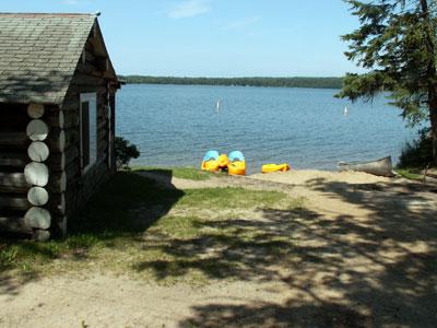 Valhalla Resort on Island Lake - Swimming Beach
